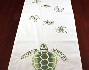 Green Sea Turtle Table Runner