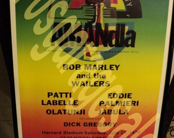 Bob Marley And The Wailers Concert Lobby Card 1979
