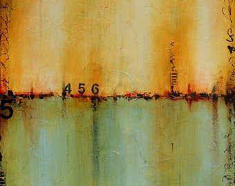 Large Canvas Art, Original Abstract Acrylic Painting by Sarah Ettinger, 24 x 30 inches