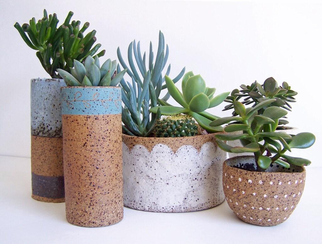 Succulent planter ceramic planter stoneware pottery Planters for succulents