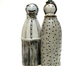 "Ceramic Sculpture    ""Happy Couple "" Man And Woman"