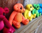Scented Rainbow Teddy Bear Shelf Sitters by Kirsten Renae