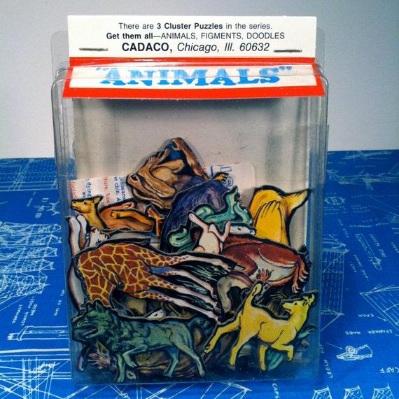 Cadaco Animals Cluster Puzzle Jumble Fits Sealed In Original