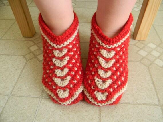 Knitting Pattern Slip On Slippers : Items similar to Knitting pattern PDF Seamless Slip-Stitch Slippers for Kids,...