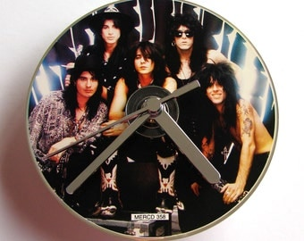LA GUNS CD Clock A recycled original music cd single Gift for men women guys rockers heavy metal hair black silver band photo Comes In A Box