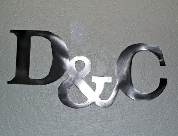 Wall Decor Metal Numbers : Custom metal letters with sign wall art
