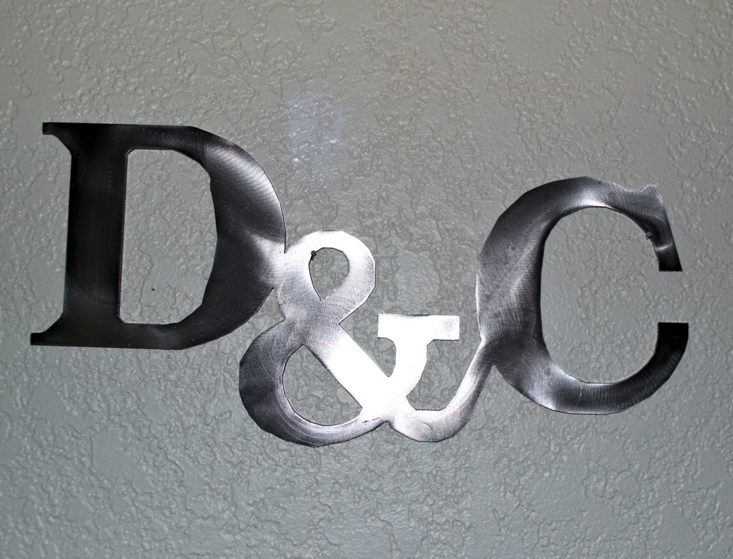 Wall Art Metal Letters : Custom metal letters with sign wall art