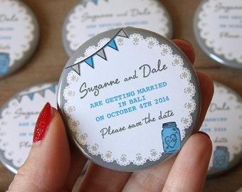 MASON JAR design - Save the Date Magnets x 40