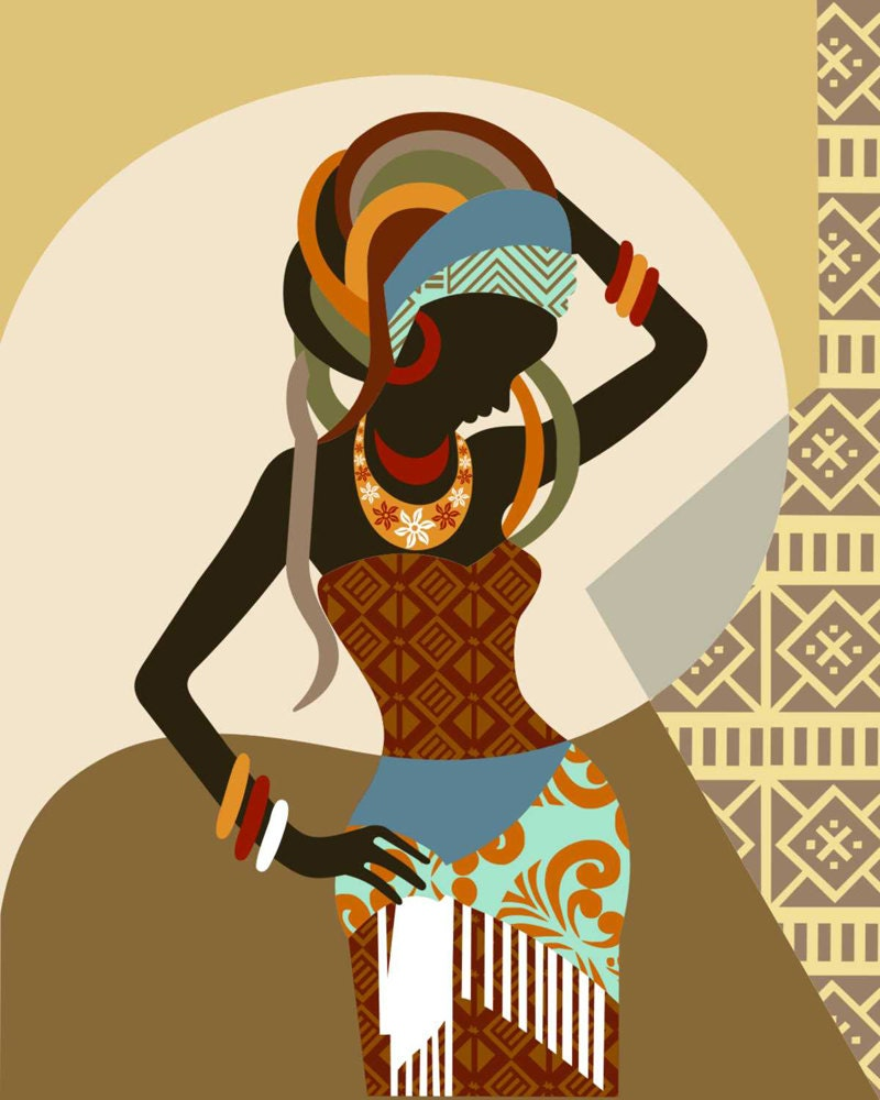 african wall decor hot girls wallpaper