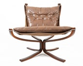 Danish Mid Century Modern Falcon Lounge Chair by Sigurd Ressel