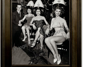 Hairdresser Art Print 8 x 10 - Retro Kitsch 1950's Women at Hair Salon - Beautician - Stylist