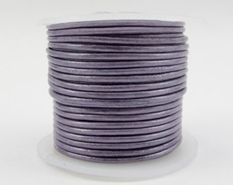2mm Genuine Berry Leather Cord -10 Yard Spool#125-26410