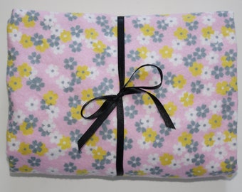 Pack n Play Sheet Fitted Cotton Flannel Playard Sheet - Gray Pick flowers