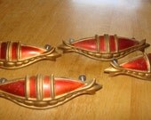 Set of 4 Vintage Drawer Pulls