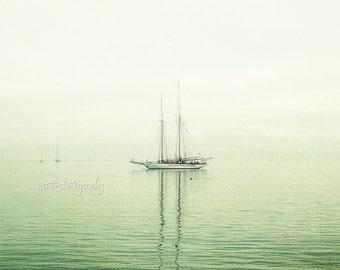 Sailboat Schooner Adventuress Photography   Nautical Art   Anacortes   San Juan Islands Ghost Ship   Pacific Northwest Home Decor