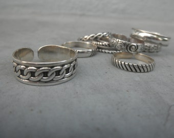 Wide sterling silver cuff ring