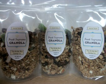Granola Small Batch made to order 5 oz bags 3    5oz bags Dried Fruit Granola Lovers