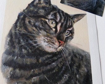 Oil painting from photo of pet