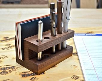 The Display - Handmade Walnut Wood Pen Holder