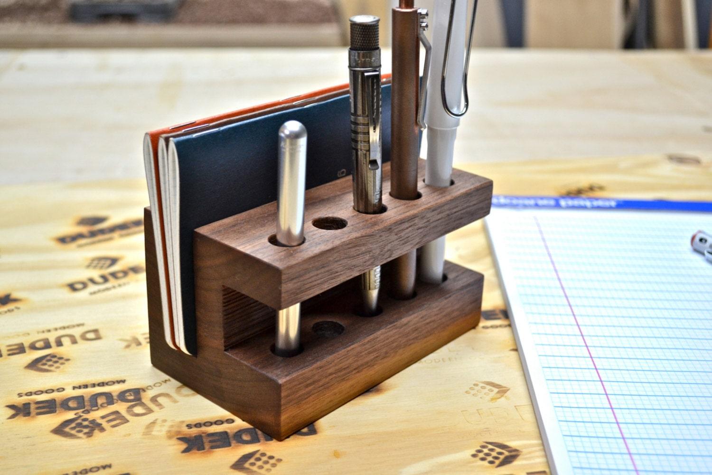 Creative Pen Stand Designs : The display handmade walnut wood pen holder