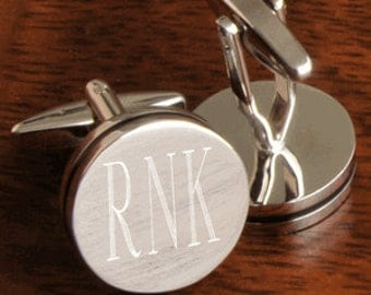 Monogram Cufflinks - Personalized Cuff links, Will you be my Groomsman Gift - Groomsmen Gifts - Wedding Party Gifts - Gift For Dad (FC797)