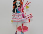 Papel Picado Dress for Skelita  - Monster High Valentines Dress