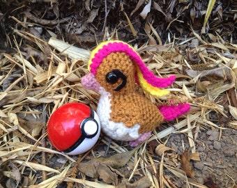 Pidgeot Pokemon amigurumi plush toy