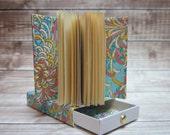 Miniature Coptic Bound Book, Handmade Book, Blank Book, Match Box Book, Miniature Handmade Book, Mini Blank Book, Matchbox Book