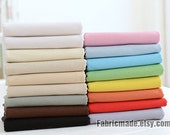 Solid Linen Cotton Fabric, Plain White Beige Yellow Tan Grey Black Pink Blue Red Green Linen  - 1/2 yard