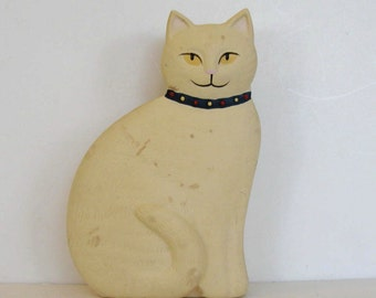 SALE, Vintage Ceramic Cat Jewelry Box, Home Decor, Kitty Trinket tray, gift idea