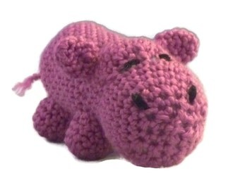 Amigurumi Hippopotamus, pink, raspberry Collectable, toy, hippopotamus