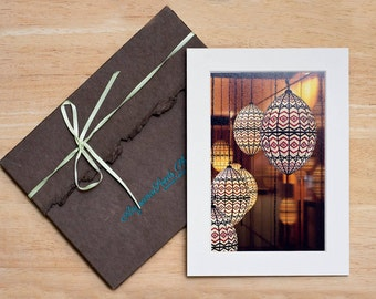 LIMITED edition fine art prints, Moroccan Lanterns, Celebrity gifting, Matted, 4x6, 5x7, gift under 20, Mediterranean, Christmas, wall decor