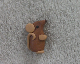 Rat magnet  -  made from polymer clay (Fimo)