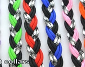 Adjustable Paracord Dog Collars Ghost Color Series