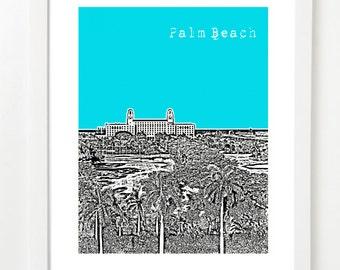 Palm Beach Florida Art Print - City Skyline Series Poster - Palm Beach Wedding