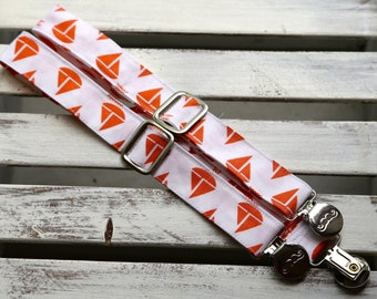 Orange Sailboats Suspenders  (Orange and White)