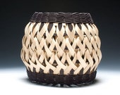 Penland Pottery Basket in black and walnut