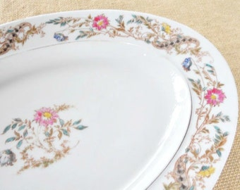 Vintage French Inspired Haviland-Limoges Platter, Large, Meat Platter, Fine China, Shabby Chic, Cottage Chic, Wedding