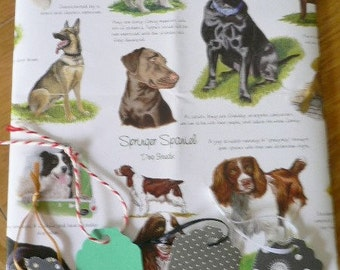 GIFT WRAPPING SERVICE available Beautiful dog themed luxury paper with Handmade gift tags compliment purchase Christmas gift, Birthday gift