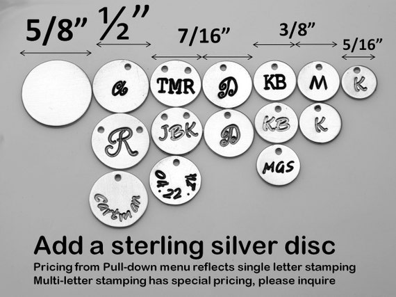 For tydesign Jewelry buyer ONLY,will not be sold separately.Add sterling silver initial disc letter charm