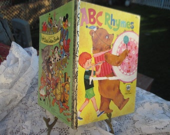 ABC Rhymes Little Golden Book 1977,Childrens Book,Vintage Children Book,Vint Golden Book,/Sale Code CLEARINGOUT25 Must use code at check out