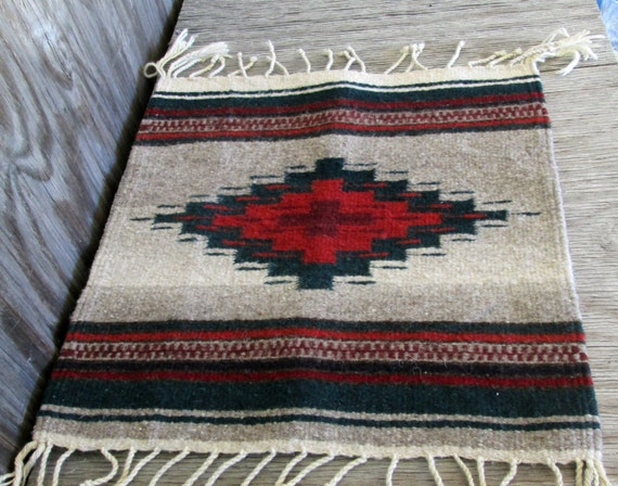 Navajo Wall Hanging Small Rug Southwestern Weaving Native