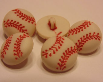 5 small / tiny baseball buttons, 11 mm (7)