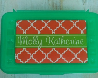 Personalized Pencil Box, Design Your Own, Art Supply Box, Crayon Box, Back to School