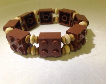 Brown Wood LEGO Bracelet