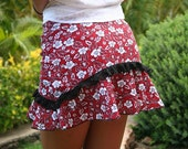 "Hawaiian Running Skirt ""Red Hibiscus"""