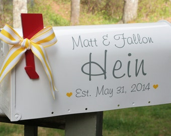 Wedding Mailbox- Card Box - Hearts - Personlized
