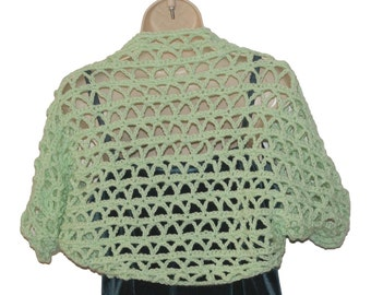 Crochet Shrug, XL Bolero, Womens Bolero, Plus Size Shrug, Clothing Plus Size, Womens Plus Size, XL Clothing, Layered Look, Sweater
