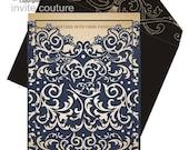 Custom Lasercut Luxury Wedding invitation Pocket  - Die Cut Wedding Invitations -  Custom Luxury Invitations - Lasercut Invitations