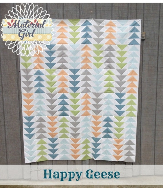 Happy Geese quilt pattern by Material Girl Quilts (pdf download)